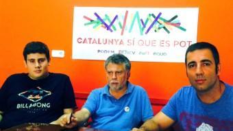 D'esquerra a dreta, Monleón (ICV), Salmerón (EUiA) i Urgell (Batega) Foto:EL PUNT AVUI