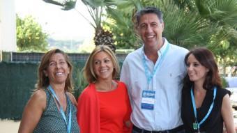 Camacho, Cospedal, Albiol i Levy, a l'acte de presentació de l'Escola d'Estiu del PP a Lloret de Mar Foto:ACN