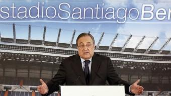 Florentino Pérez en una compareixença al Santiago Bermabéu. Foto:REUTERS