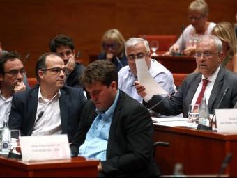 Santi Rodríguez, portaveu adjunt del PP al Parlament, aquest dimecres durant la seva intervenció Foto:EFE