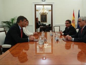 El ministre de Justícia, Rafael Catalá, i el conseller de Justícia, Germà Gordó, ha mantingut una trobada aquest dijous al ministeri Foto:ACN