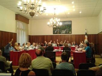Imatge del ple de dijous a l'Ajuntament de Figueres. Foto:M.VICENTE