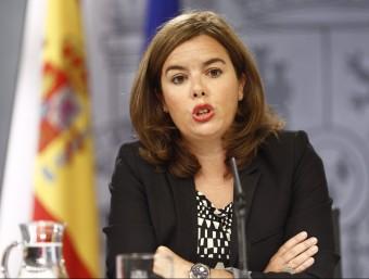 Soraya Sáenz de Santamaría a la roda de premsa posterior al Consell de Ministres Foto:EP
