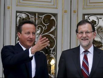 David Cameron i Mariano Rajoy, a la Moncloa Foto:REUTERS