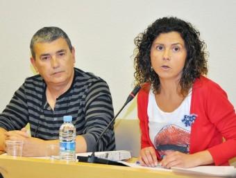 Pep Val i Isabel Martín, alcaldessa de Paiporta. Foto:ESCORCOLL