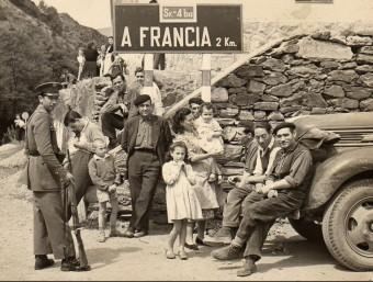 Refugiats republicans arribant a la ratlla de França l'any 1939. Foto:ARXIU - EL PUNT