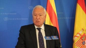 José Manuel García Margallo, intervenint al Fórum Nueva Economia Foto:ACN