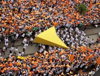 El punter de la Via Lliure, el passat 11 de Setembre a la Meridiana de Barcelona Foto:ELISABETH MAGRE