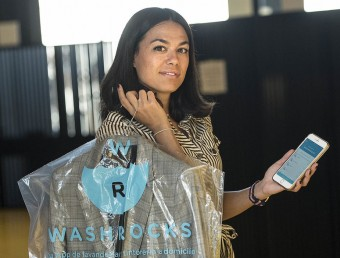 Elisabet Mas és la fundadora de Washrocks.  Foto:JOSEP LOSADA