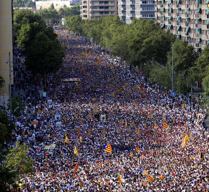 Resultat d'imatges de 11s barcelona manifestacio