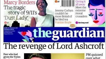 Portada del diari britànic The Guardian Foto:EPA