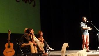 El teatre es va omplir en un acte on també van intervenir Toia Codina i Martí Lleixà. Foto:J.C
