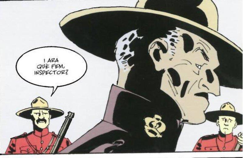 Imatge d'una vinyeta del còmic.