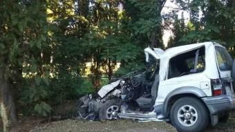 El vehicle tot terreny que es va accidentar a Gualta.