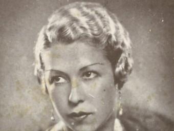 Retrat de joventut de Llucieta Canyà. Foto:Arxiu