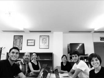 """Equip de redacció d'""""Impact Journal"""". Foto:EL PUNT AVUI"""