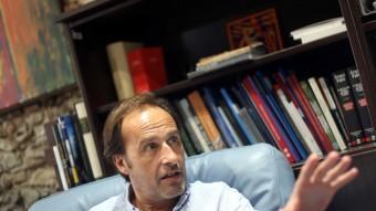 Sergi Bonet, rector de la UdG, al seu despatx durant l'entrevista Foto:QUIM PUIG