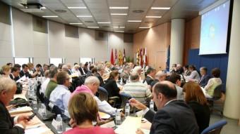 Reunió del Consell de l'Aigua celebrada fa unes setmanes a Saragossa. Foto:ACN