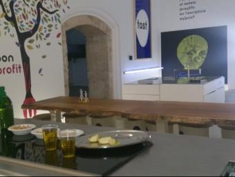 La sala principal del Centre de la Cultura de l'Oli de Catalunya .  Foto:AJUNTAMENT DE LA GRANADELLA
