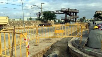 Les obres que l'empresa municipal d'aigües està duent a terme al barri de Sant Llàtzer. Foto:ACN