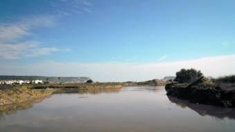 La zona humida de la Pletera, ahir, inundada d'aigua després del temporal Foto:EL PUNT AVUI