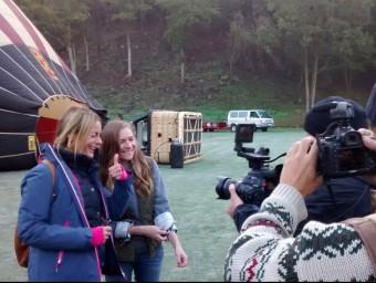Ivana Miño amb Trevor i Cori,  Foto:LA PARELLA NORD-AMERICANA QUE VA VISITAR L'ALT EMPORDÀ I LA GARROTXA, EL NOVEMBRE TV3