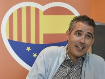 Jorge Soler, diputat electe per C's de la demarcació de Lleida durant l'entrevista. Foto:SANTI IGLESIAS SIGNATURA FOTO