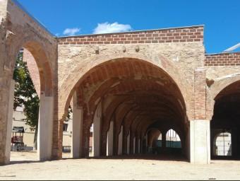 Detall dels arcs de l'antic teatre Odéon de Canet de Mar que s'han recuperat i que avui s'inauguren Foto:T.M