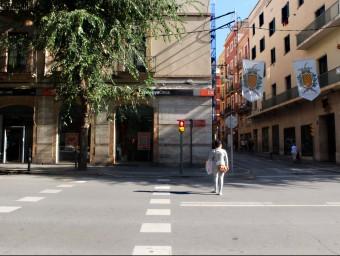 El xamfrà entre Rambla Vella i carrer Portalet és on hi havia el Cafè de la Unió, lloc on Lorca gaudiria de la mùsica dels grallers el setembre del 1935. Foto:INFOCAMP