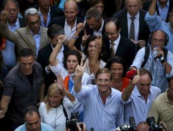 El primer ministre, Pedro Passos Coelho en un acte de campanya aquesta setmana Foto:REUTERS