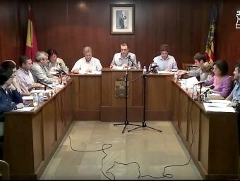 Consistori de Banyeres de Mariola en sessió plenària. Foto:B. SILVESTRE