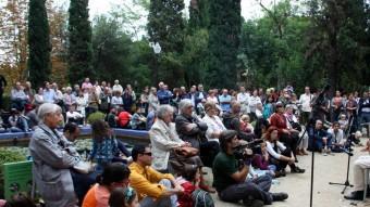 Nombrós públic en les diverses actuacions musicals que han amenitzat la reobertura del Museu Etnològic de Barcelona Foto:ACN