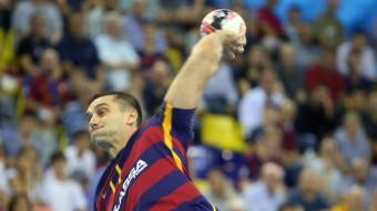 Lazarov, en un partit d'aquesta temporada al Palau Blaugrana. Foto:JUANMA RAMOS