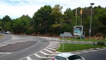 L'accés a les platges de Fornells i Aigüablava on es vol ara una nova rotonda. Foto:EL PUNT AVUI