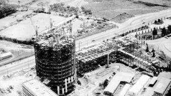 La construcció de l'hospital. Foto:EL PUNT AVUI