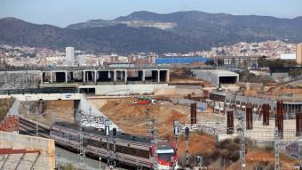 L'aspecte de les obres del nou entorn ferroviari de la Sagrera a principis d'any. Des d'aleshores, el seu estat no ha avançat substancialment Foto:QUIM PUIG