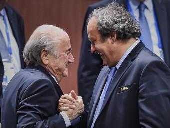 Josep Blatter i Michel Platini. Foto:AFP