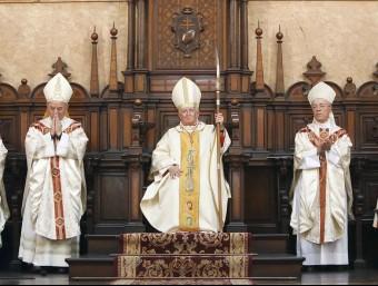 Eucaristia presidida per l'Arquebisbe de València el cardenal Antonio Cañizares. Foto:AVAN