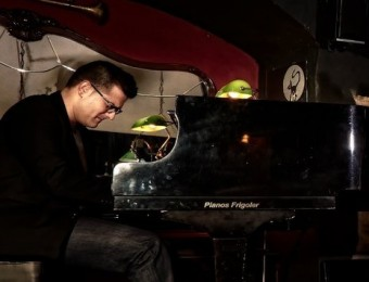 Luis González Trio, durant una actuació al Sunset Jazz Club Foto:ARXIU