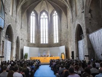 Inauguració del curs passat durant l'acte solemne a l'Aula Magna de la UdG Foto:JORDI RIBOT / ICONNA