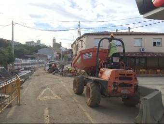 Les obres de la tercera fase de les obres de reconversió de la C-65 van començar dilluns passat Foto:CANAL AJUNTAMENT