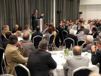 Artur Mas en una imatge d'arxiu en un sopar amb els empresaris organtizat per la Cambra de Girona. Foto:J.SABATER