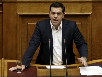 Tsipras, presentant ahir el seu programa de govern davant del Parlament grec Foto:ALKIS KONSTANTINIDIS / REUTERS