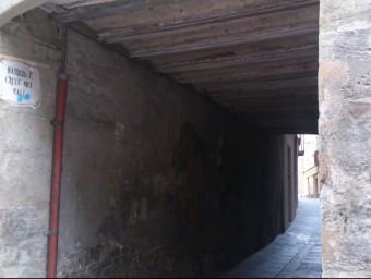 El carrer del Call Sobirà, antic carrer del Vent. Foto:E. POMARES