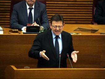 El president Ximo Puig, durant la seua intervenció al ple de les Corts. Foto:ACN