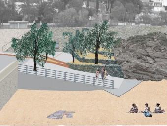 Imatge virtual de com quedarà l'accés a la platja de Palangrers. Foto:ELPUNTAVUI