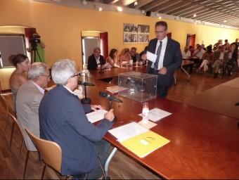 El president del consell del Pla de l'Estany, Jordi Xargay, el dia de la constitució del plenari d'aquest mandat, el mes de juliol Foto:R. E