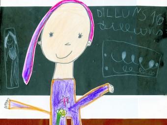 De gran, professora L'Adam es va dibuixar a P5 com una professora amb cabells llargs. Aquest curs és Ada, la nena que s'ha sentit sempre