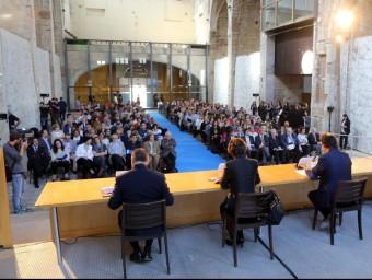 L'Aula Magna de la UdG, ahir, durant la inauguració del curs quim puig
