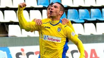 Chando, celebrant un gol amb l'Atlètic Balears Foto:ÚLTIMA HORA